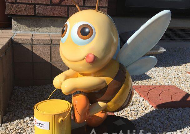 ミツバチ キャラクター(FRP製立体オブジェ)