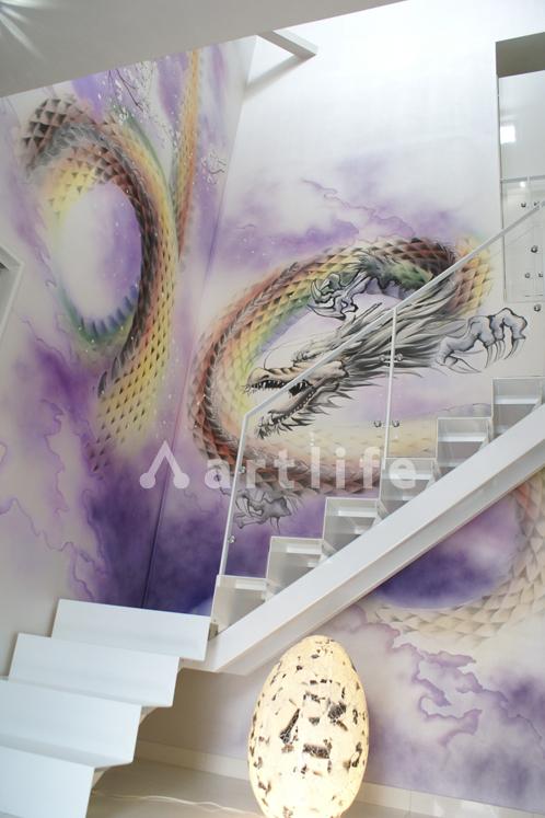 建築会社店舗 壁画