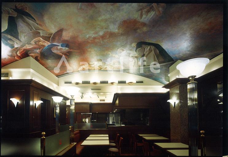 飲食店フレンチレストラン 天井画