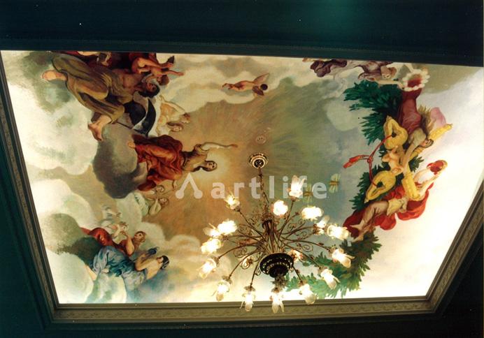ホテルエントランス 天井画