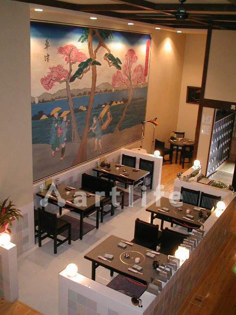 寿司屋 壁画