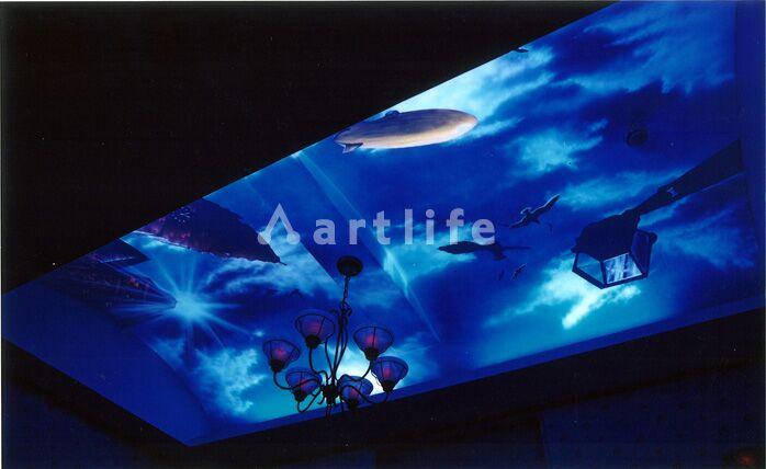 飛行船ブラックライトアート