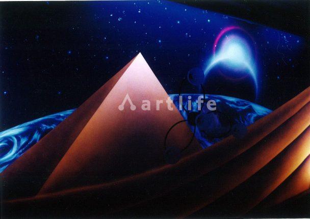 ピラミッド ブラックライトアート