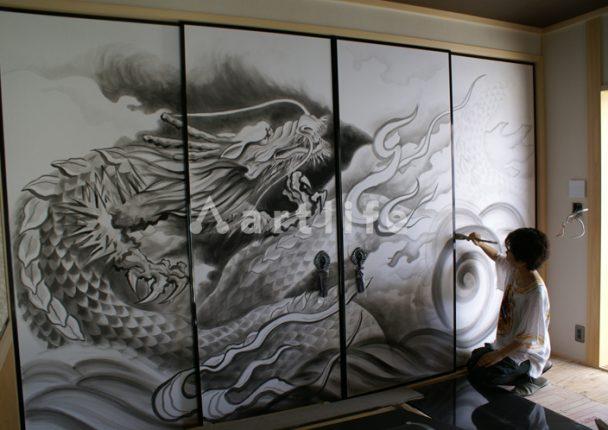 住宅 襖絵