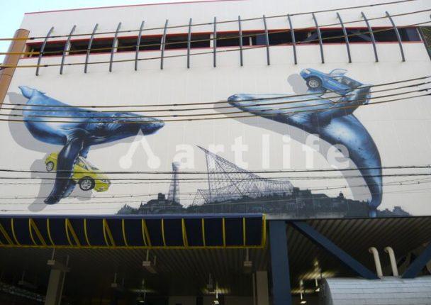 駐車場 壁画