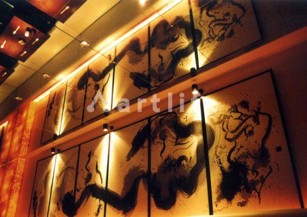 和食店 ふすま絵