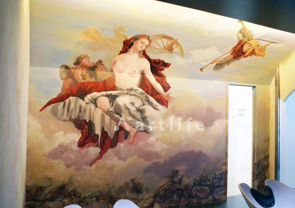 美容室 壁画1.