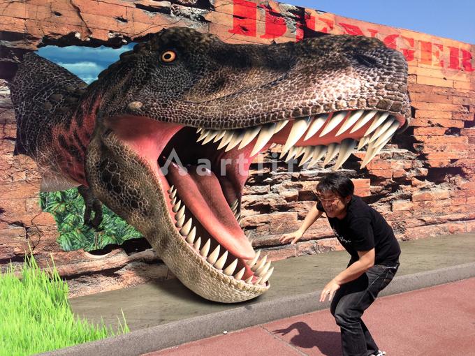 広島カープ3Dトリックアート・恐竜編Tレックス