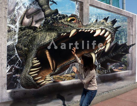 広島カープ3Dトリックアート・ドラゴン