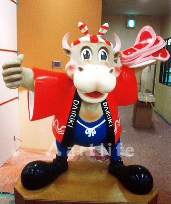 食肉店キャラクターオブジェ
