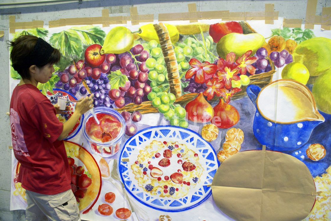 スーパーマーケット 壁画