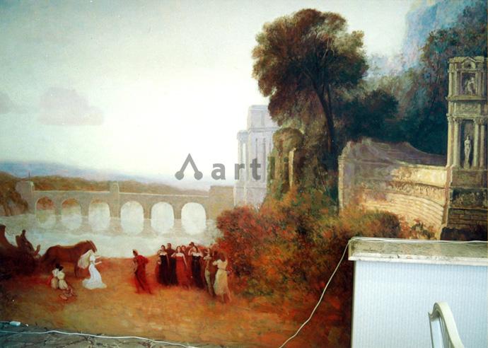 結婚式場 壁画