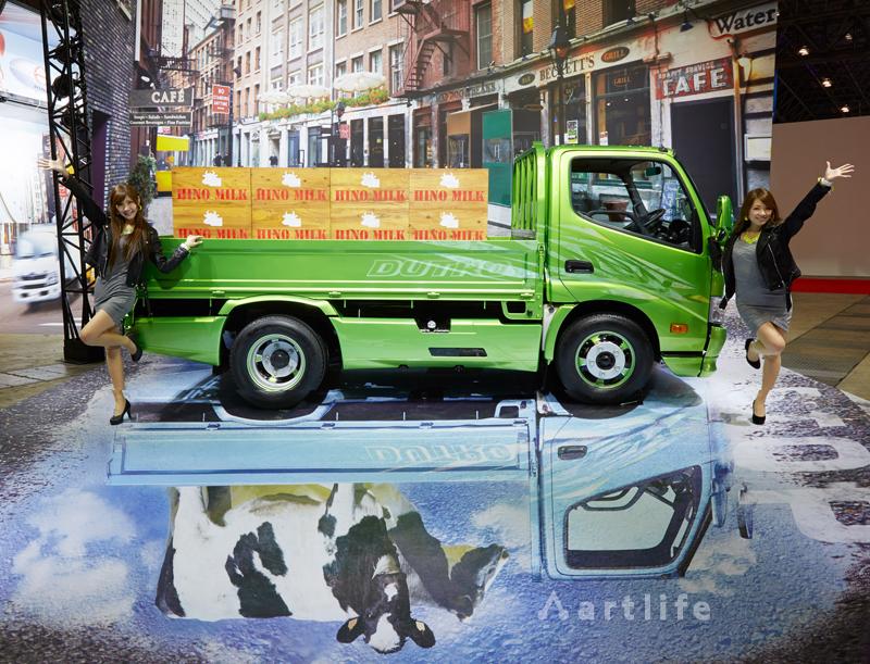 東京オートサロン2015 日野自動車 「ミルクトラック」